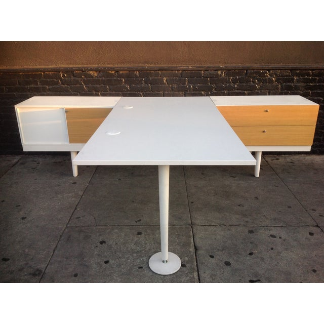 A mid century modern design, by Werner Aisslinger for Vitra furniture. Level 34 Vitra office desk and credenza Great for...