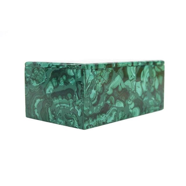 Malachite Antique Lidded Box - Image 5 of 9