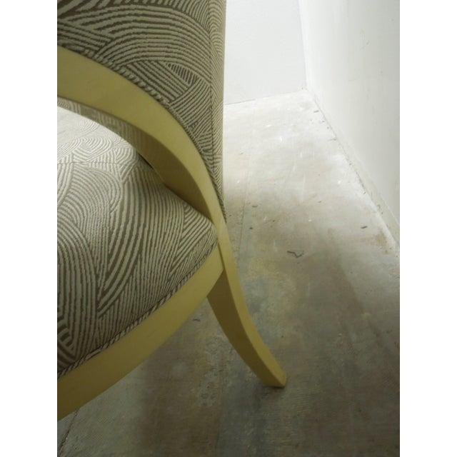 "Wood Sally Sirkin Lewis for J Robert Scott ""Deanna"" Sofa For Sale - Image 7 of 8"