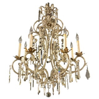Fine Beaded and Crystal Venetian Style Chandelier For Sale