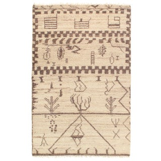 Pasargad N Y Genuine Fine Moroccan Hand-Knotted Rug - 4' X 6′ For Sale