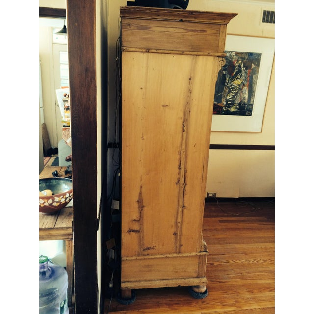 Cottage German Antique Pine Armoire For Sale - Image 3 of 6