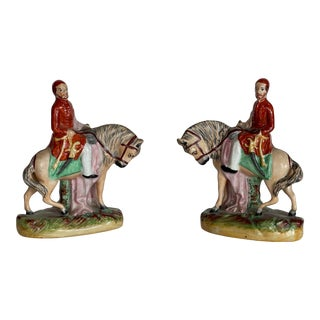 Mid 19th Century Royal Staffordshire Statues - a Pair For Sale