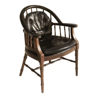 Leather Regency Occasional Chair