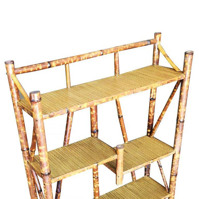 Tiger Bamboo Four-Tier Bookshelf - Image 4 of 5