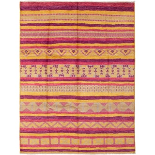 Contemporary Handmade Indian Rug - 9′3″ × 12′1″ For Sale