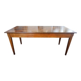 Early 19th Century Walnut Farm Table For Sale