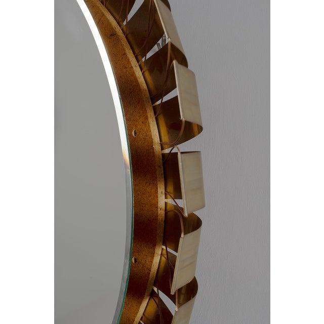 Metal Large Mid Century Bronze Frame Back Lit Mirror For Sale - Image 7 of 11