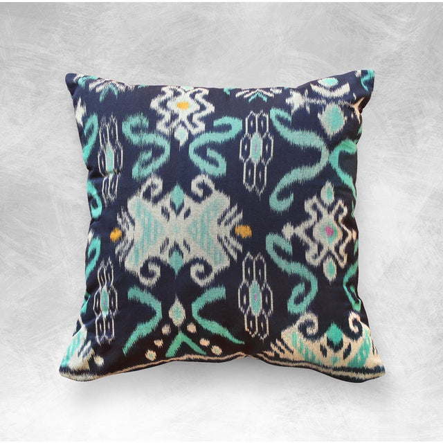 """Handwoven Balinese Indigo """"Karma Tosca"""" Pillow - Image 2 of 3"""