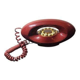Mid-Century Landline Red Genie Phone For Sale