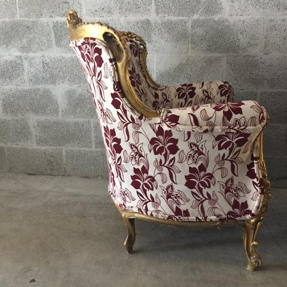 Baroque Bergère-Style Chairs - A Pair For Sale - Image 4 of 5