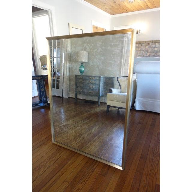 Restoration Hardware Antiqued Brass Metal Beveled Mirror