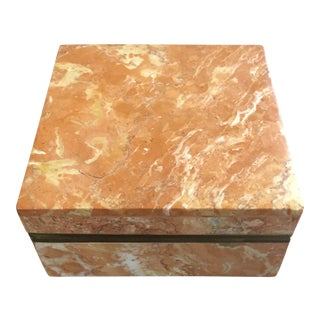 Orange & White Marble Box