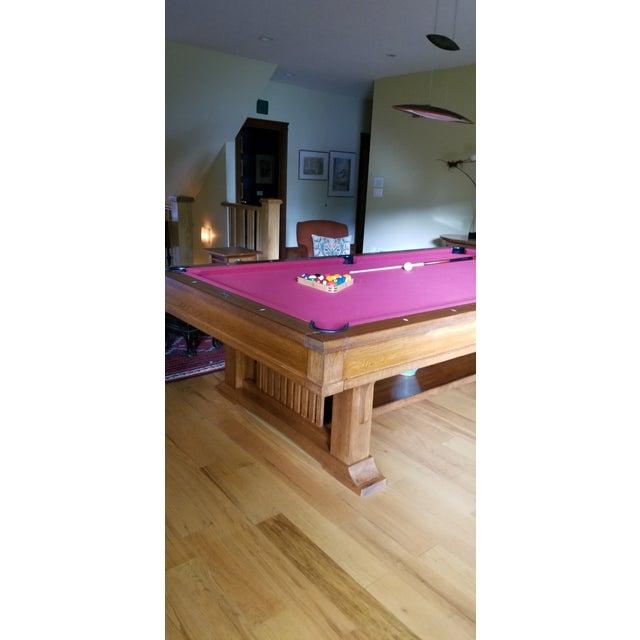 Brunswick Co. Brunswick Centennial Craftsman Pool Table For Sale - Image 4 of 8