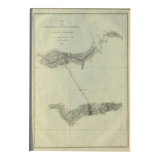 Santiago, Chili Uspullata & Portillo Passes, 1855 Map - Image 8 of 8