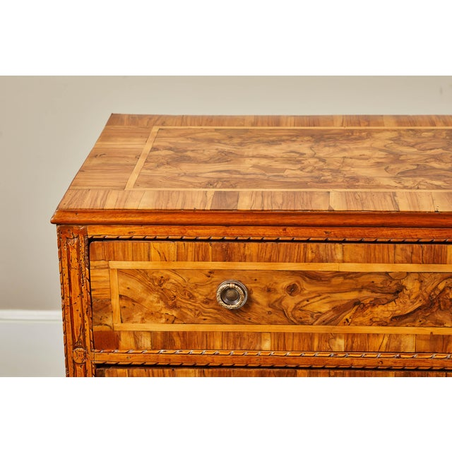 Brown 19th C. Italian Inlaid Chest of Drawers For Sale - Image 8 of 9