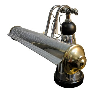 1930s Industrial Art Deco Lyre Piano Lamp For Sale