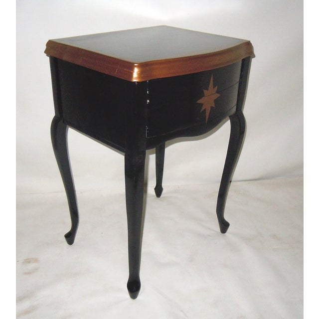 30s Mid Century Ebony Side Table - Image 7 of 8
