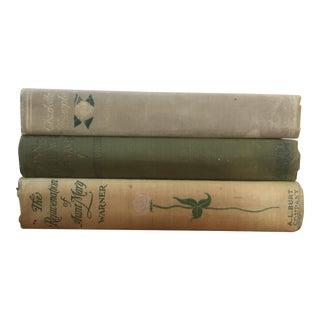 Antique Decorative Floral Books - Set of 3 For Sale