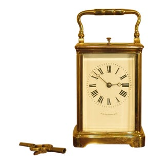 Je Caldwell & Co. Small French Carriage Clock