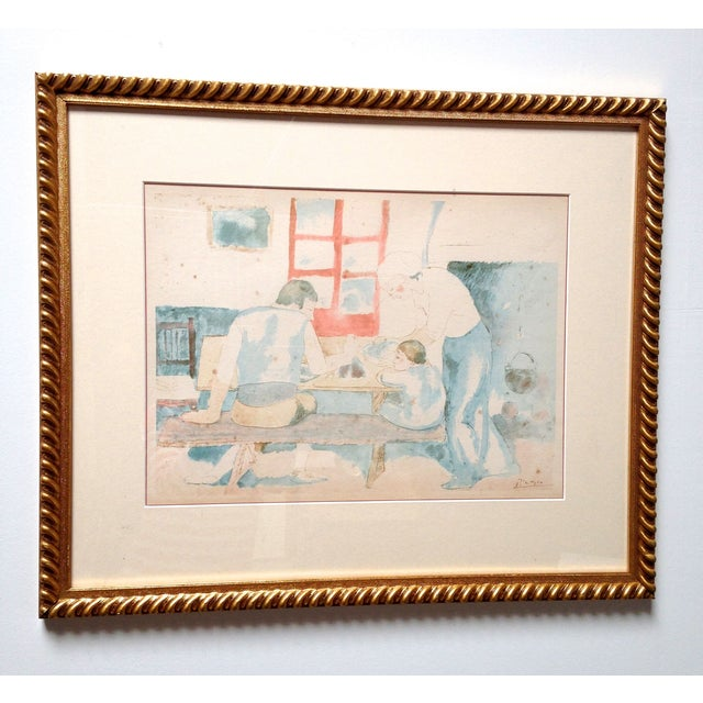 Pablo Picasso Family at Supper Lithograph - Image 2 of 5
