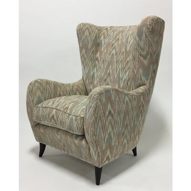 Italian High Back Lounge Chairs - A Pair - Image 5 of 11