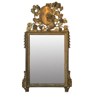 18th C. French Gilt Mirror For Sale