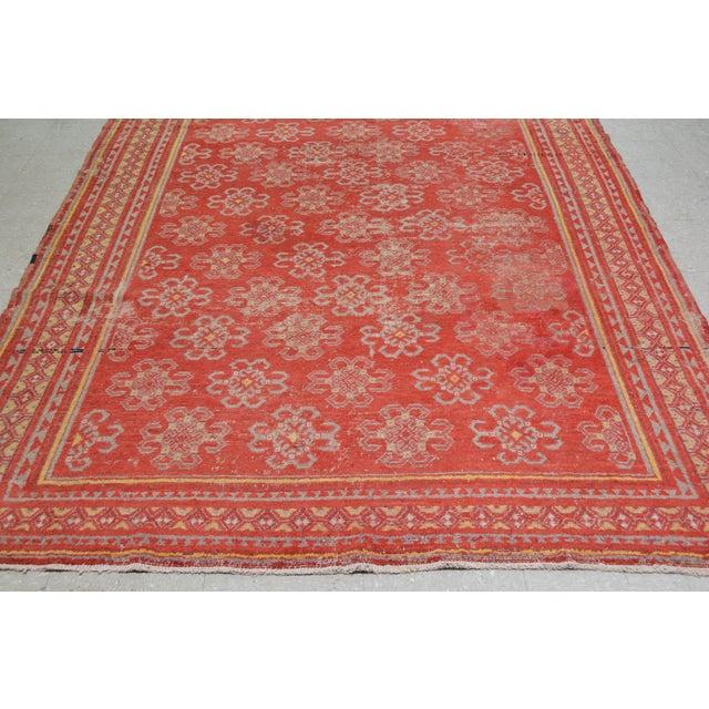 "Shabby Chic Antique Khotan Rug,6'6""x10'2"" For Sale - Image 3 of 6"
