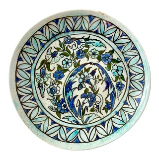 1980s Hand-Painted Middle Eastern Wall Dish For Sale