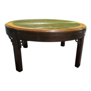 1990s Chippendale Drexel Heritage Coffee Table For Sale