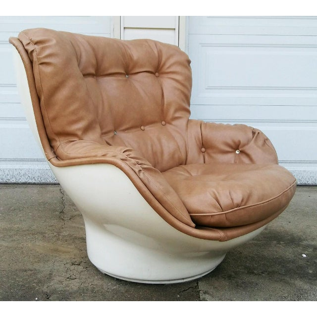 Airborne International Michel Cadestin Karate Lounge Chair with Ottoman for Airborne Intl. For Sale - Image 4 of 6