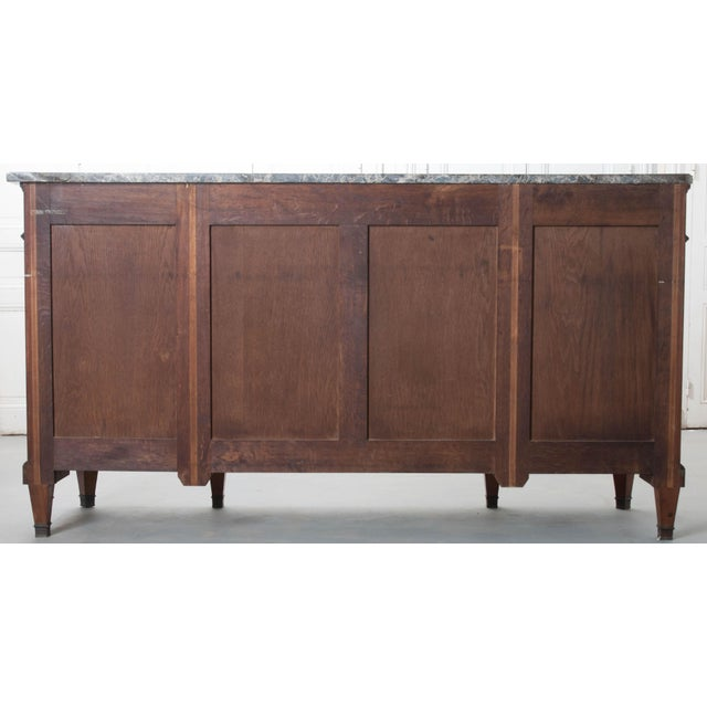 French Late 19th Century Louis XVI Style Mahogany Enfilade with Marble Top - Image 10 of 10