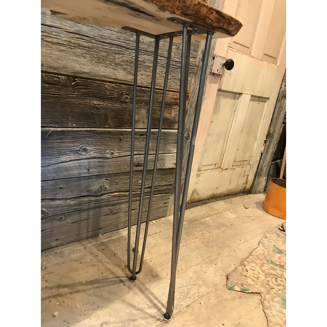 Live Edge Console Table For Sale - Image 9 of 12