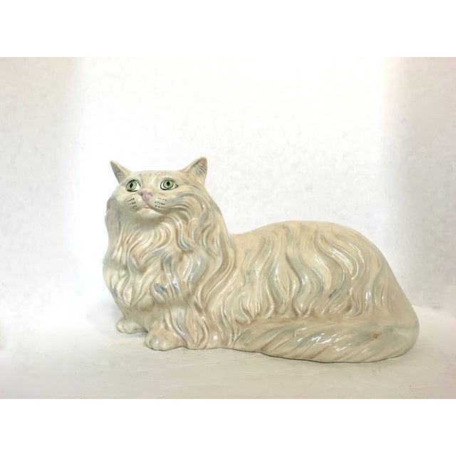 Vintage Ceramic Cat Statue - Image 3 of 6