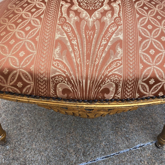1930s Vintage Imperial Gilded French Sofa and Chairs - Set of 3 For Sale - Image 4 of 11