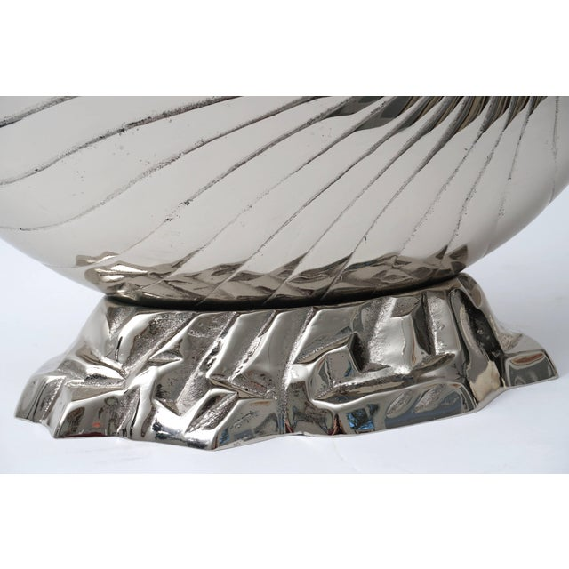 Large Nickel Plated Nautilus Cachepot For Sale In West Palm - Image 6 of 10