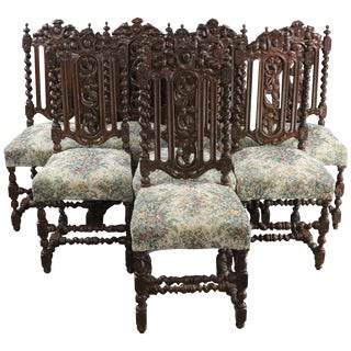 Dining Chairs Antique French 1880 - Set of 8 For Sale