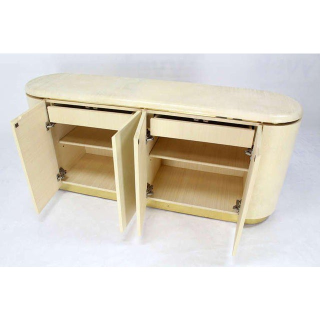 Mid-Century Modern, Drum Shape Long Credenza Server in the Springer Style - Image 7 of 7
