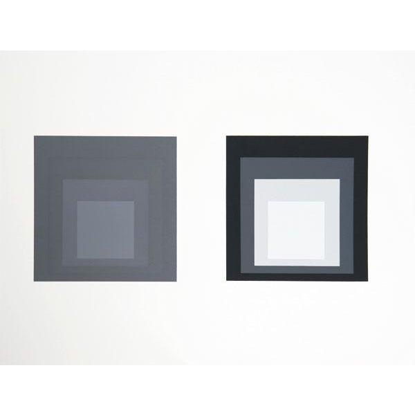 Abstract Expressionism Josef Albers - Portfolio 1, Folder 23, Image 2 Framed Silkscreen For Sale - Image 3 of 4