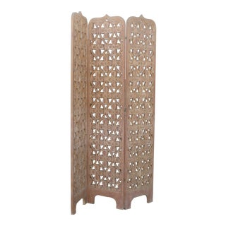 Wooden Carved Room Divider For Sale