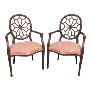 Ethan Allen Louis XVI Style Armchairs- a Pair For Sale