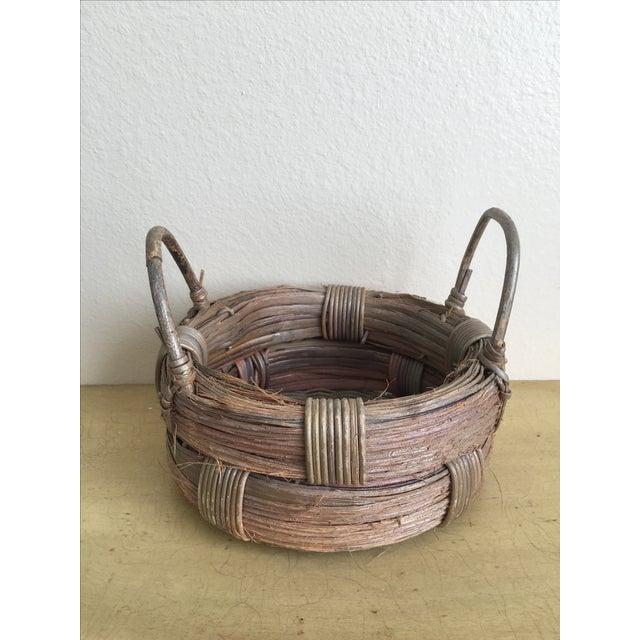 Rustic Wicker Basket, Vintage Holiday Decor - Image 7 of 7
