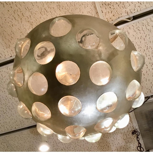 Tan Arteriors Kendra Iron Bowl Chandelier For Sale - Image 8 of 9