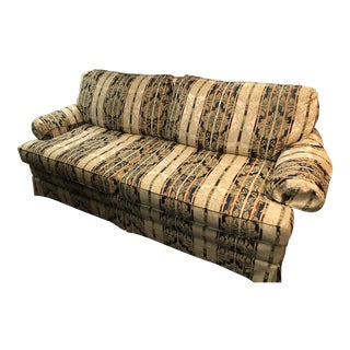 1980s Vintage Clayton Marcus Striped Sofa For Sale