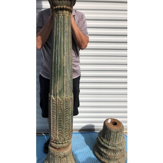 19th Century Teak Pillars From Old Palace in Gujarat - Set of 4 Preview