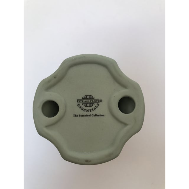Fitz and Floyd Matte Green Candlestick Holder - Image 6 of 6