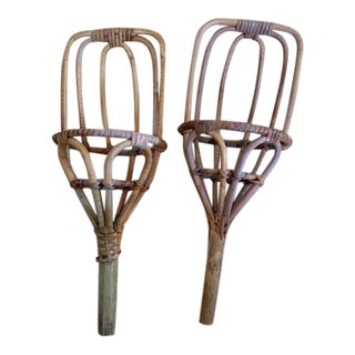 1940s Bamboo Throwers - a Pair For Sale