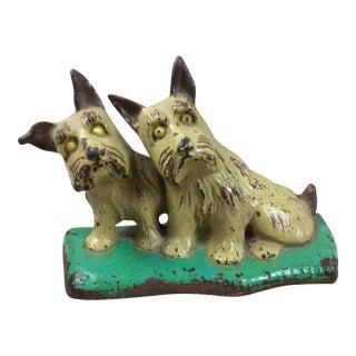 Scottie Dogs Cast Iron Doorstop For Sale
