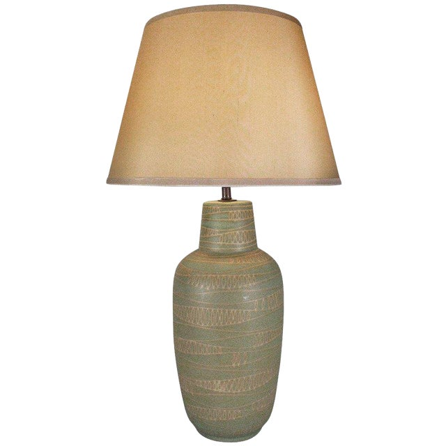 1950s Modern Ceramic Lamp by Design Technics For Sale