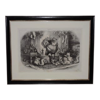 "1872 ""The Coming of Santa"" Illustration by Thomas Nast for Harper's Bazar For Sale"